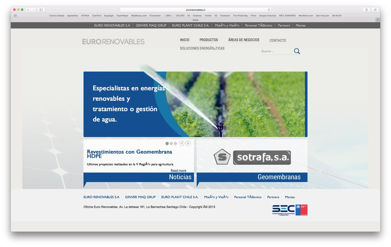- eurorenovables - Proyectos