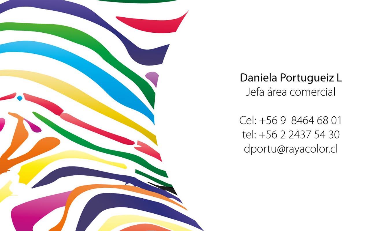 trabajos - tarjeta rayacolor - TRABAJOS DISEÑO GRAFICO