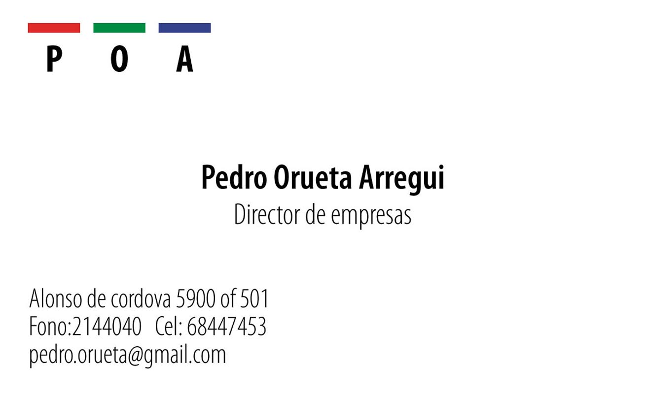 trabajos - tarjeta pedro orueta - TRABAJOS DISEÑO GRAFICO