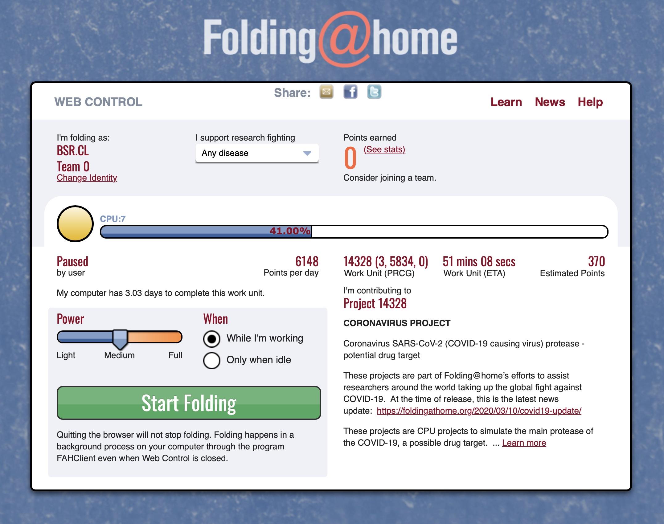 - Folding home - NVIDIA nos propone cómo poner sus gráficas al servicio de la investigación sobre el COVID-20: la iniciativa Folding@Home